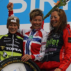 Borghild vant Birkebeinerrittet '13 foran Sally Bigham og Ingrid Lorvik.  Bildet er hentet fra kondis.no